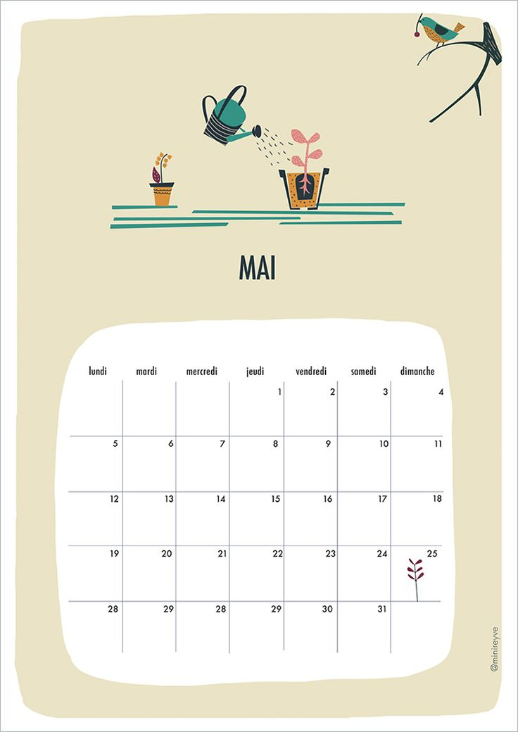 Calendar Mai : Free printable calendar may french