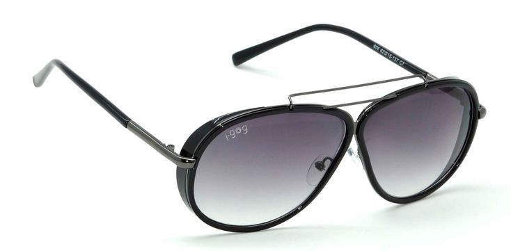 Buy Now I-Gog Sunglasses Unisex Black Shaded Large Aviator IG-606-C7 Online : India , Uk
