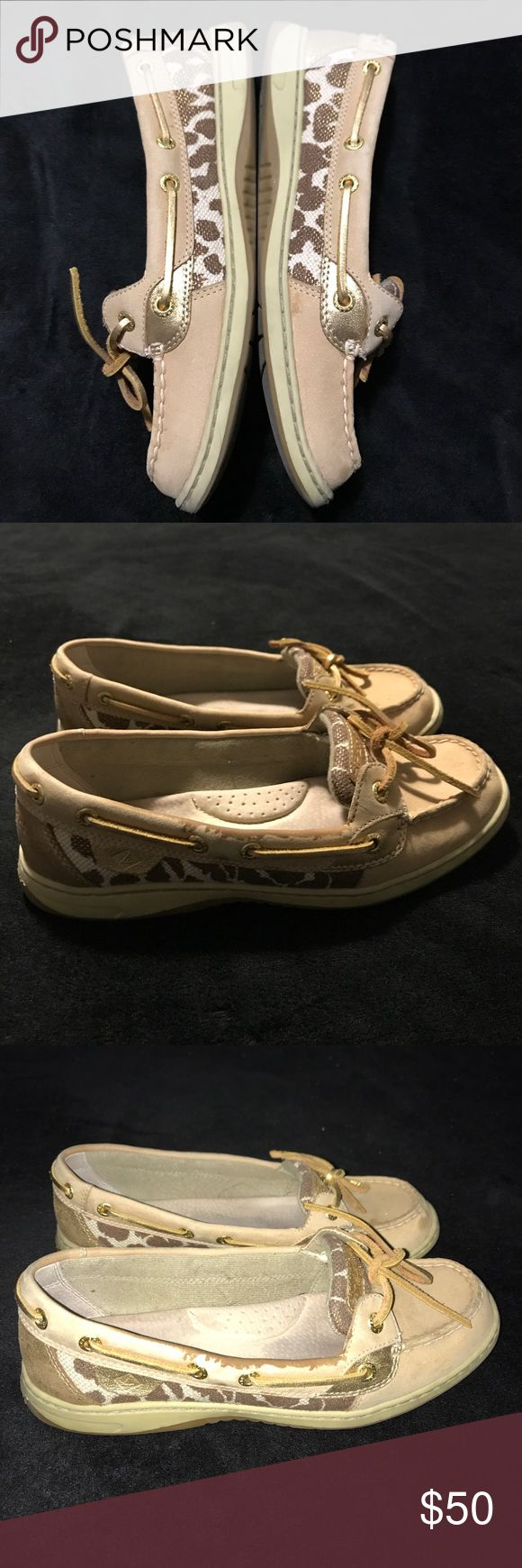 Cheetah print Sperry loafers Like new. Worn 2 times. Size 7.5. Bought for $80 at DSW asking $50 Sperry Top-Sider Shoes Flats & Loafers