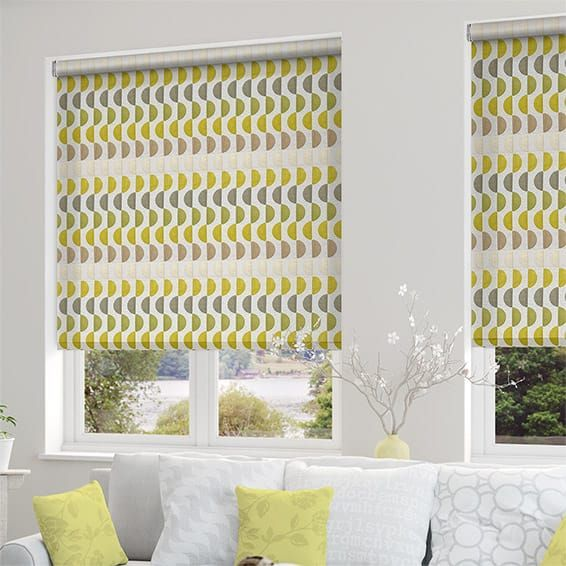 Marvelous Choices Viva Funky Green Roller Blind