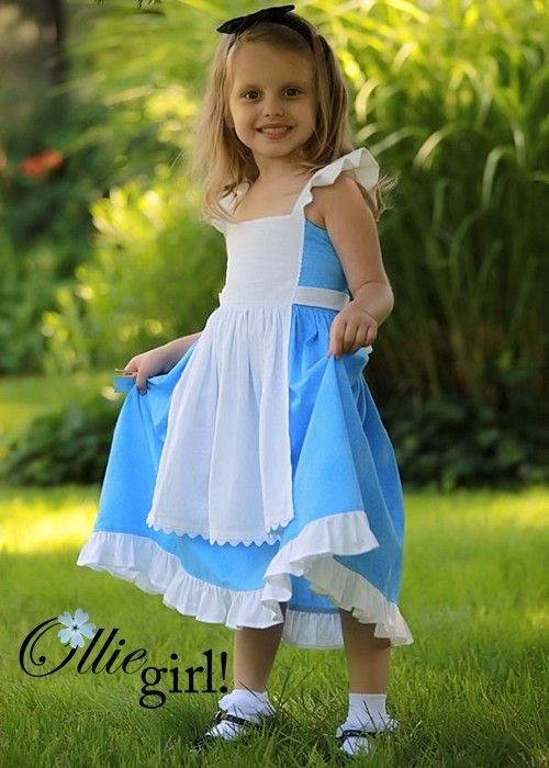 Alice in Wonderland Apron Simply a Princess Halter Sundress READY TO SHIP size 2/3/4