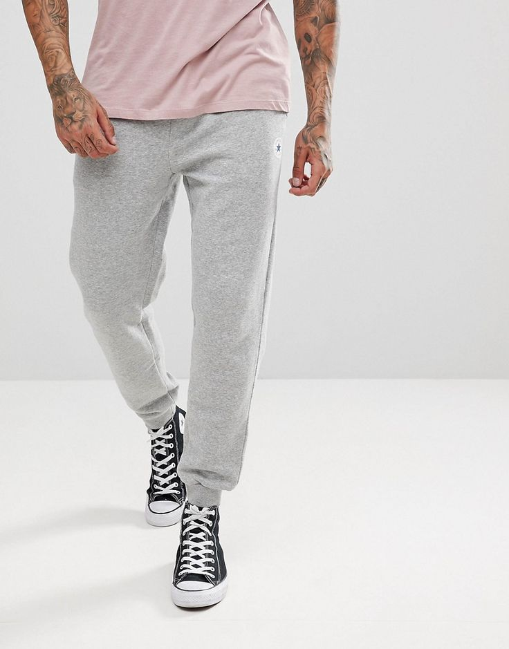Get this Converse's joggers now! Click for more details. Worldwide  shipping. Converse Chuck Patch Joggers In Grey 10004631-A03 - Grey: Joggers  by Converse, ...
