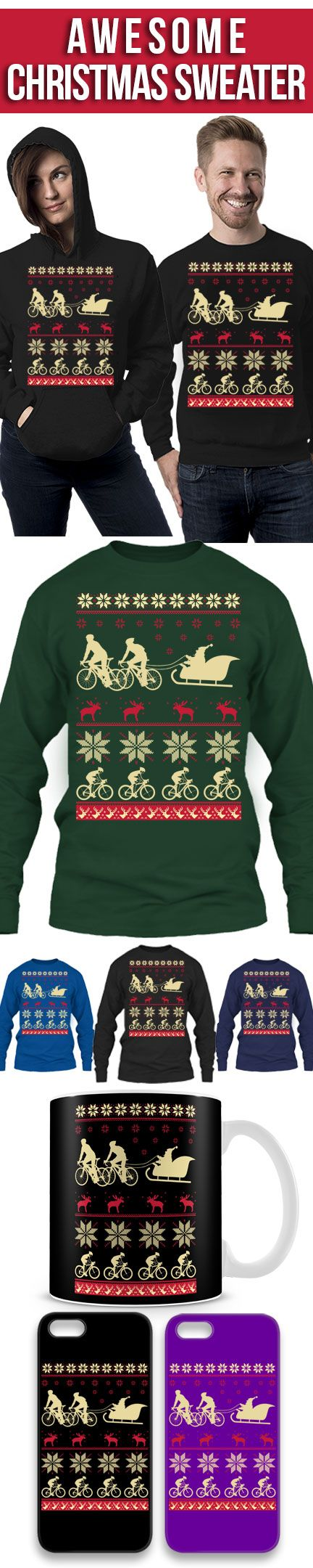Limited Edition- Cycling Ugly Christmas Sweater! Click The Image To Buy It Now or Tag Someone You Want To Buy This For. #cycling
