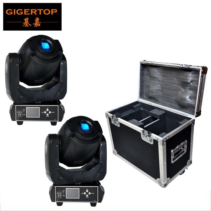 2in1 flightcase untuk 2 xlot 90 w gobo led bergerak ringan kepala 3 wajah Prisma Dengan LCD Display DMX Controller 6/16 Channel Kualitas Tinggi