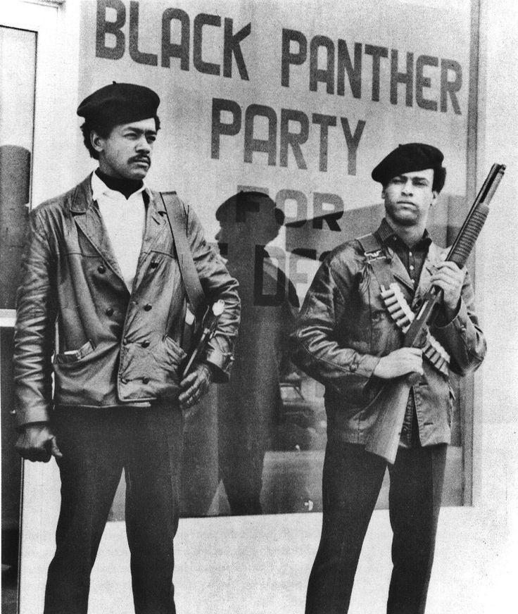 Bobby Seale y Huey P. Newton, fundadores del Black Panther Party for Self-Defense