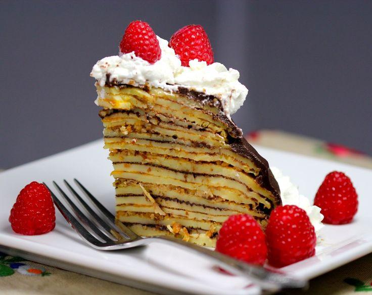 Rakott palacsinta, Hungarian crepe cake {guest post} #dessert #recipe