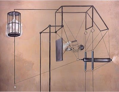 "Nader Ahriman ""For Ezra Pound"". 2000, Acrylic on canvas."