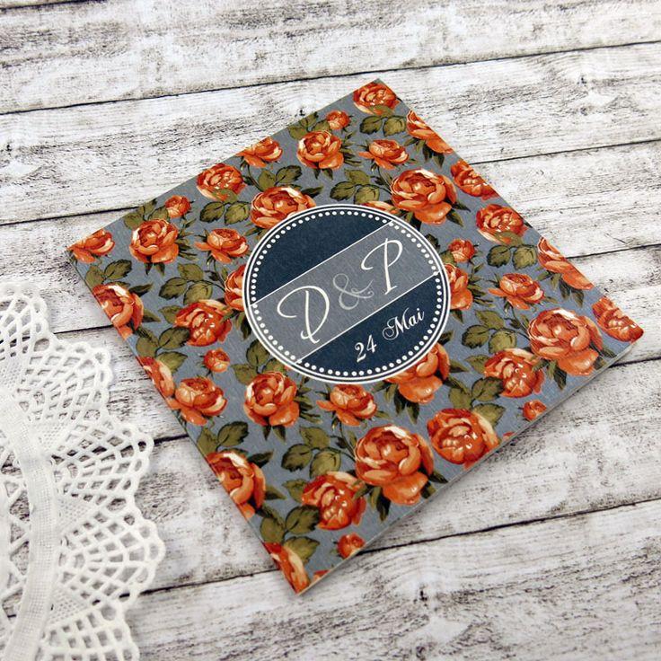 Invitaţie de nuntă Roses http://designbyclarice.ro/