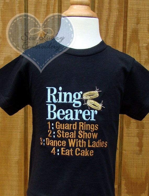 Ring Bearer shirts for reception - kids are not gonna want to wear suits the whole time