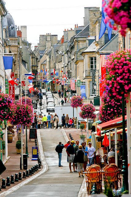 Bayeux, Normandy, France, street of flowers!