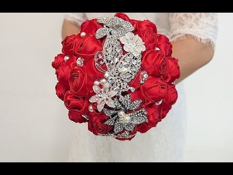 #1 DIY How to make your own wedding bridal brooch bouquet - YouTube