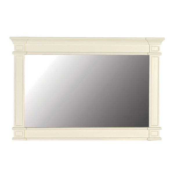 Rectangle wall will designed to be hung portrait in cream painted wood. Ideal for setting over a bathroom basin, dressing table , hall or console table. ...