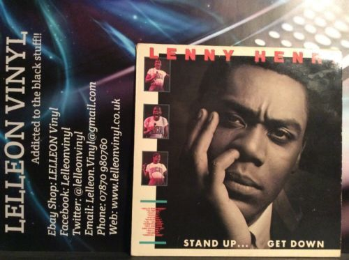 Lenny Henry Stand Up...Get Down LP Album Vinyl Record CHR1484 Comedy Stand Up Music:Records:Albums/ LPs:Comedy