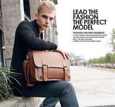 Men Laptop bag Leather Briefcase Shoulder Messenger Satchel Handbag business Bag