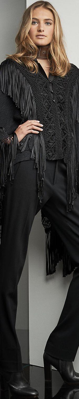 Ralph Lauren Fringed Silk Poncho                                                                                                                                                                                 More