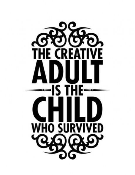 51 best studio iii images on pinterest creative curriculum Sample Modeling Resume Template typography the creative adult is the child who survived