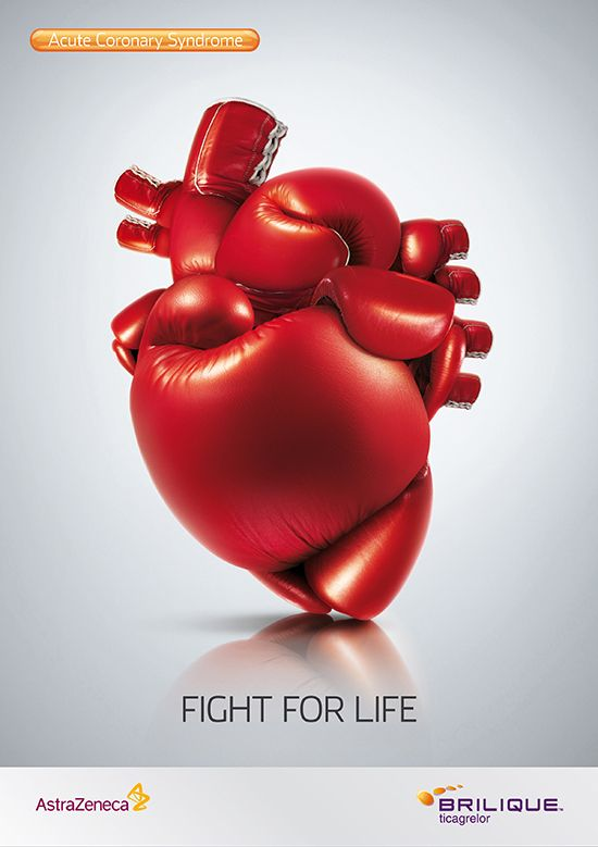 Acute Coronary Syndrome, Fight Fot Life  | #creative #adv #poster, winner of GLOBAL AWARDS 2012