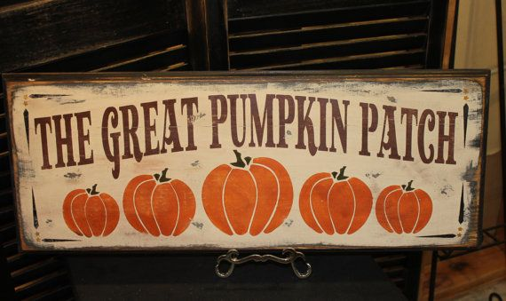 Fall Sign / The GREAT PUMPKIN PATCH /wood sign handpainted