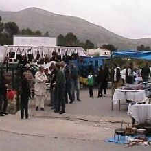 Weekly rastro market in Jalon Valley Spain