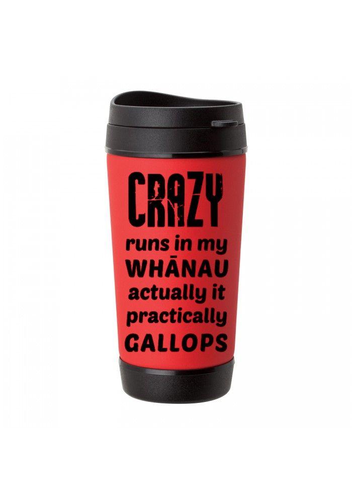 crazy whanau kiwiana travel mug