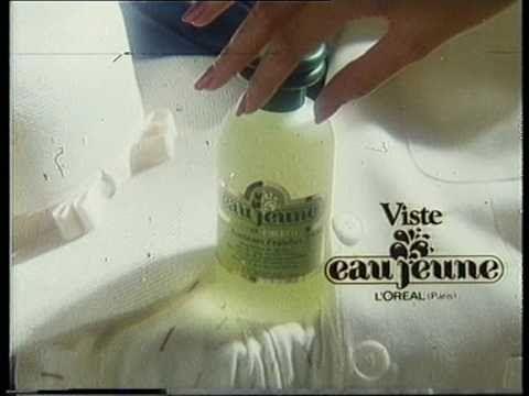 Eau Jeune 1979 anuncio de televisión