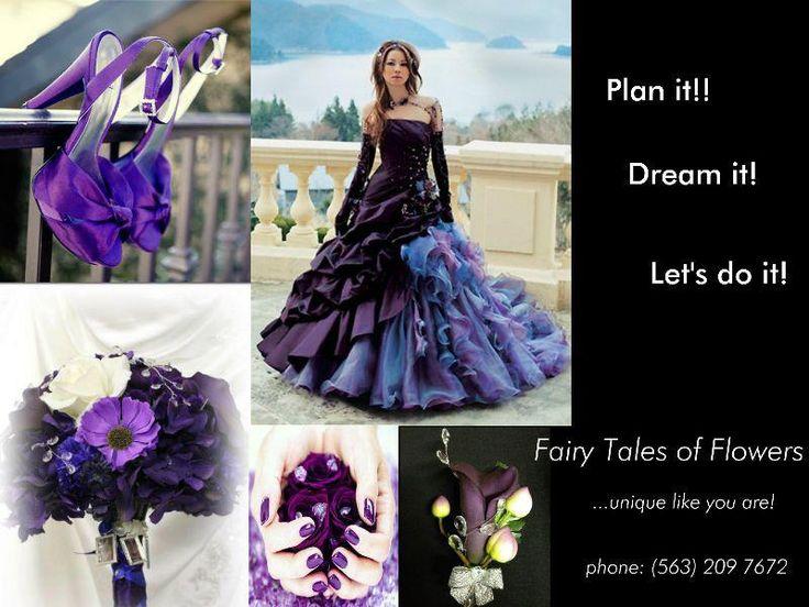 Purple Wedding Theme    Lila Themen Hochzeit   Design by Elfi Curtis at Fairy Tales of Flowers www.fairytalesofflowers.com or join us on www.facebook.com/fairy.tales.of.flowers