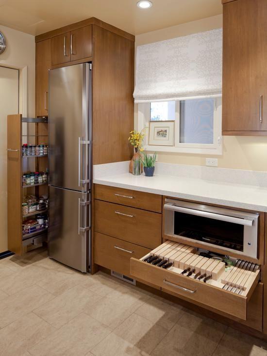 Холодильник на маленькой кухне - ФОТО-идеи и интересные видео подборки— iHouzz.ru