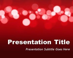 Red Marketing PowerPoint Template