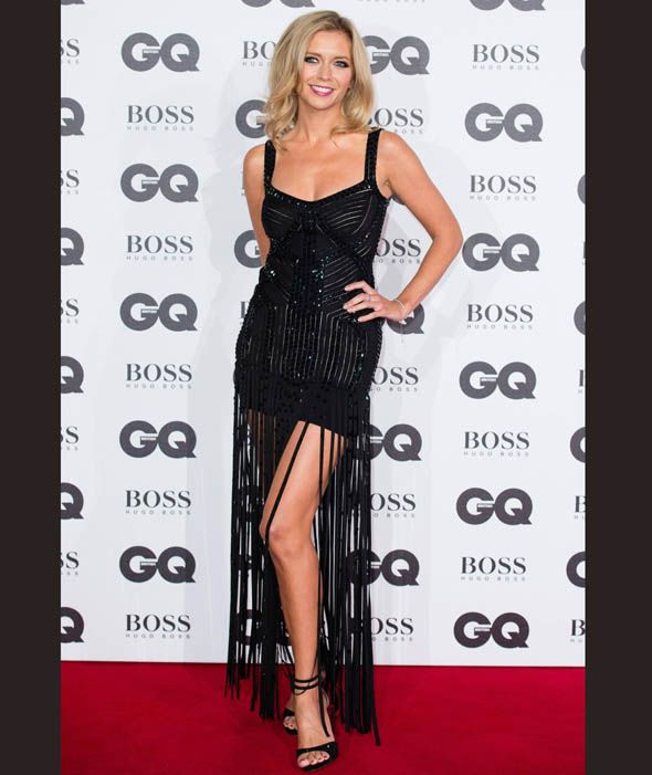 Rachel Riley arrives for GQ Men Of The Year Awards