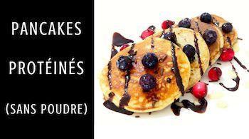 Recette de Pancakes Protéinés (sans ajout de poudre)