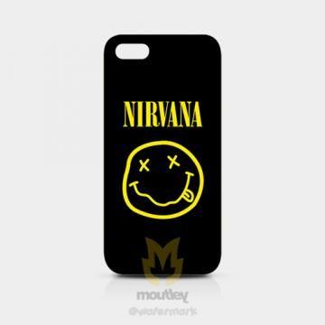 NIRVANA Rock Band Smiley Face IPhone 5/5S Hardcase