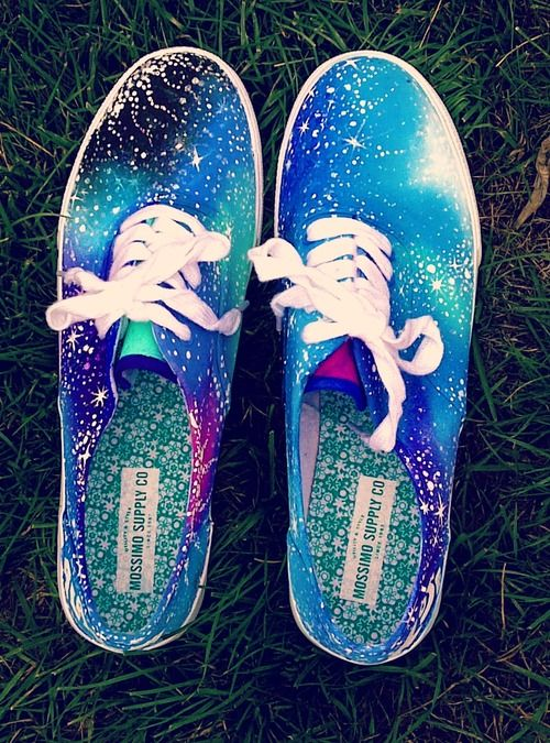 Cute galaxy shoes