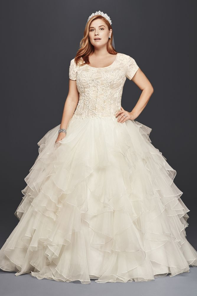 565 best plus size wedding dresses images on pinterest for Wedding dress designer oleg cassini