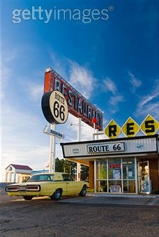 Route 66. Santa Rosa. The Route 66 Restaurant.