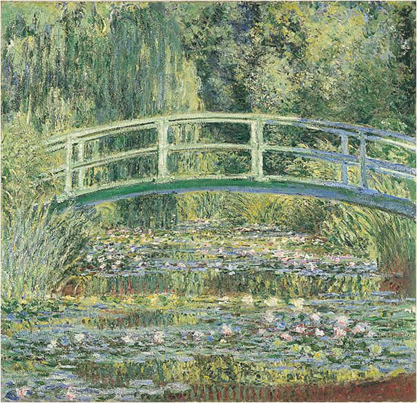 Bridge over a Pond of Water Lillies by Claude Monet