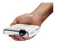 Aiptek Pocket Cinema A100W El #PocketCinema A100W es un pico proyector compacto con interfaz #WiFi incorporado. Imágenes, videos o webs se pueden reproducir directamente desde el #ordenador portátil, #tablet o #smartphone con facilidad y sin ningún cable. Transmite contenido a través de #Airplay o #Miracast desde dispositivos #iOS o #Android, o utiliza el puerto #HDMI o #MHL para conectar variedad de otros dispositivos de reproducción.