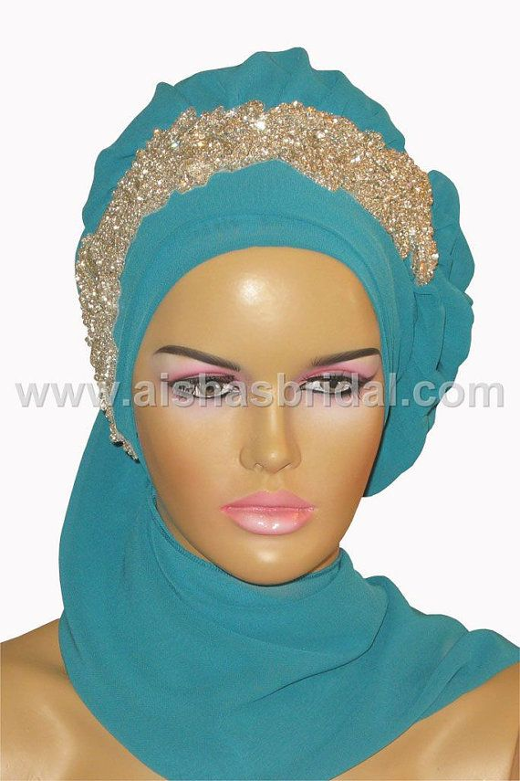 Ready To Wear Hijab  Code HT0117 by HAZIRTURBAN on Etsy, $75.00