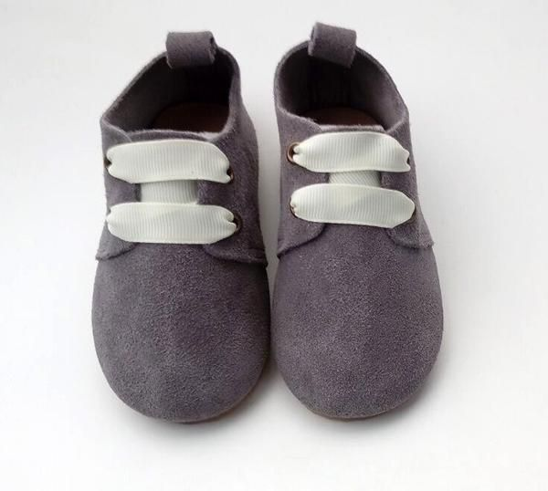 Baby Shoe - Bristol Oxford Charcoal Suede