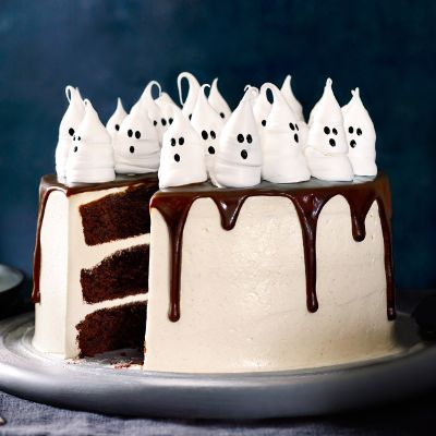 These meringue ghosts make the perfect addition to any halloween cake. Why not try Edd Kimber's nutty butterscotch cake topped off with these spooky meringues!