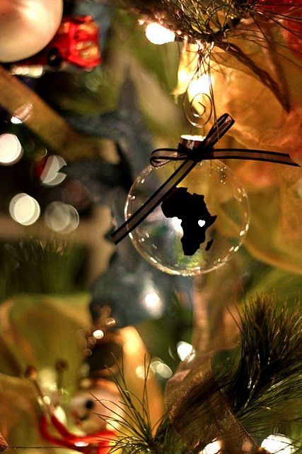 Africa Christmas Ornament by MakingRoomForMoore on Etsy, $10.00