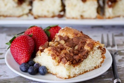 Cinnnamon Sour Cream Coffee Cake - easy to make w/ a cake mix!