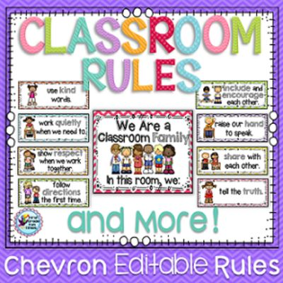 First Grade Fun Times  from  Classroom Rules - Chevron on TeachersNotebook.com -  (50 pages) - Chevron themed classroom rules with several editable options. Please preview to see all items included.