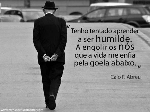 Tenho tentado aprender a ser humilde. A engolir os nós que a vida me enfia pela goela abaixo.