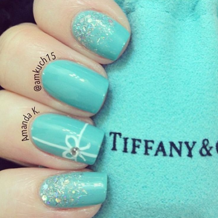 Tiffany & co nail art nails for my baby shower