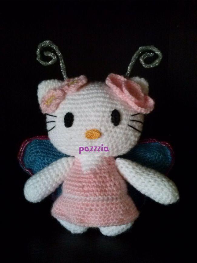 Hello kitty farfalla - Dall'album di Pazzzia: http://www.megghy.com/album/pazzzia/uncinetto/hello-kitty-farfalla.html