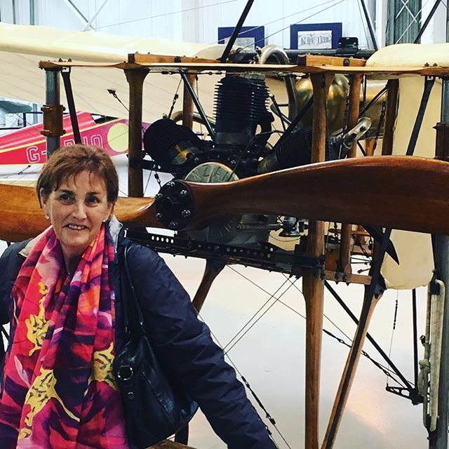 At the shuttleworth museum wearing a vibrant silk scarf viewing the worlds oldest plane 1909 Bleriot #travel #travelphotography #unitedkingdom #scarves #vibrantsilks#accessories #fashion#australianartist #designer #silkscarves #happiness #planes #