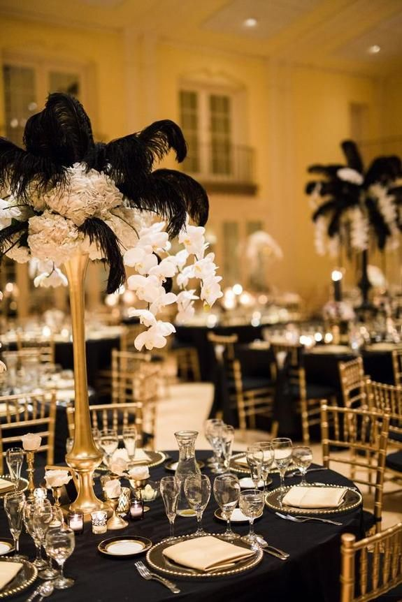 Decadent Art Deco Wedding Wedding At Lafayette Club Linen Effects Wedding Event And Party Rental Decor L Elegant Party Table Art Deco Wedding Wedding Deco