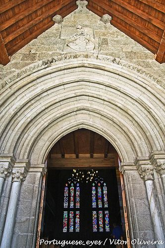 Main door of the Chapel of Paço dos Duques de Bragança - #Guimarães - #Portugal