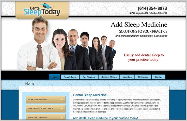 Dental Sleep Today Dental Website Design