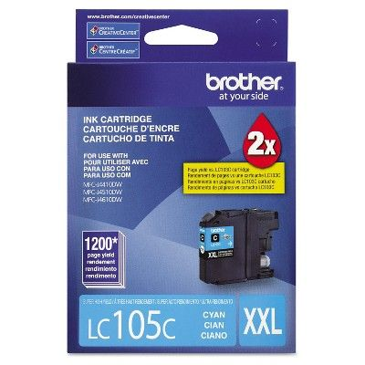 Brother LC105C Innobella Super High-Yield Ink Cartridge - Cyan (BRTLC105C)